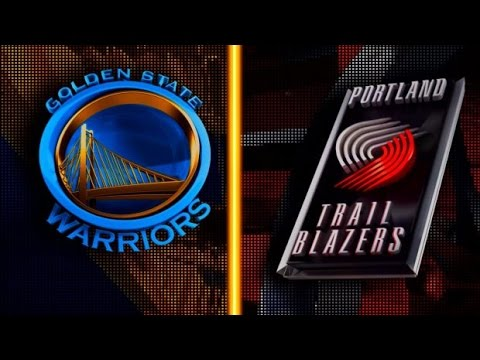 NBA Replay Portland Trail Blazers vs Golden State Warriors Replays Full Game 25 October 2016 Part 4