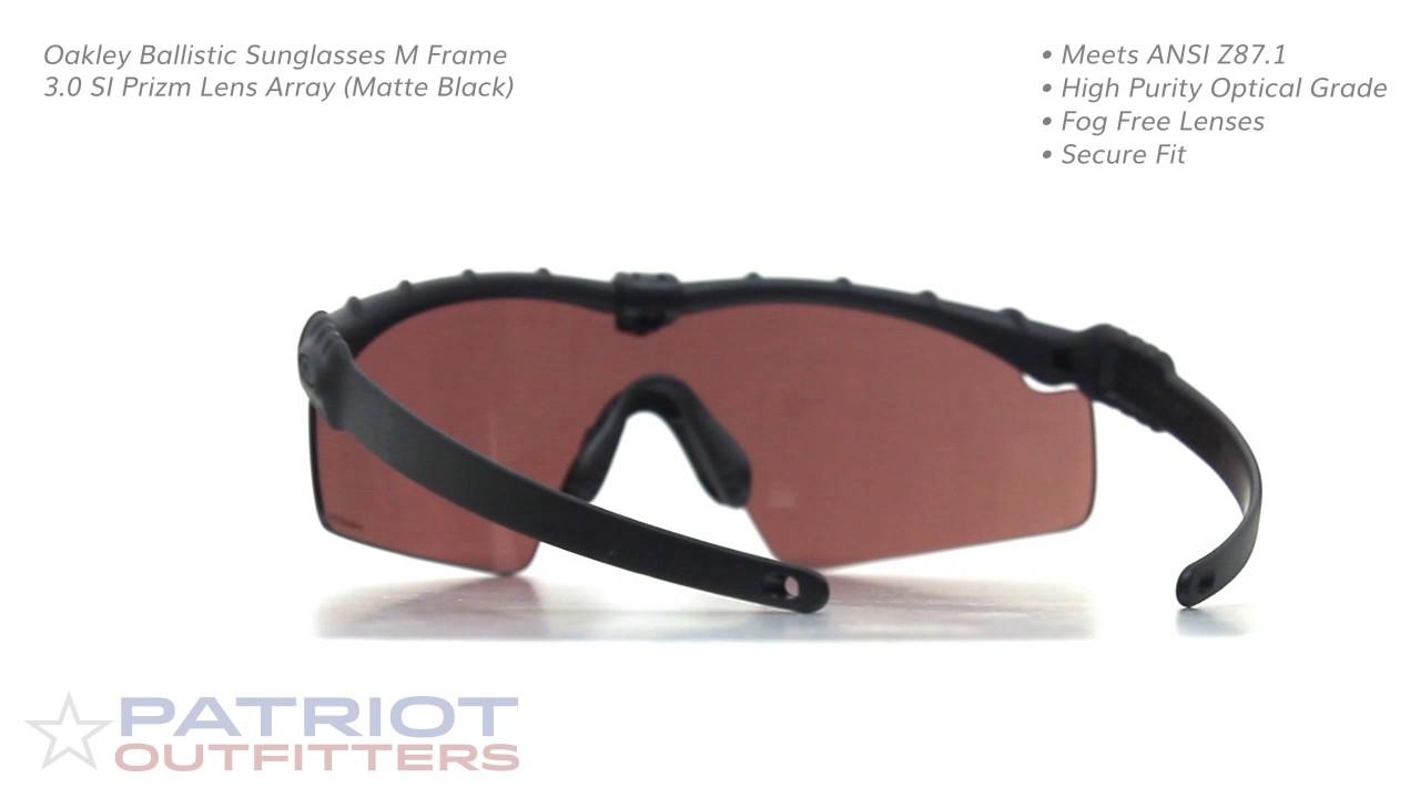 Oakley Ballistic Sunglasses M Frame 3.0 SI Prizm Lens Array (Matte ...