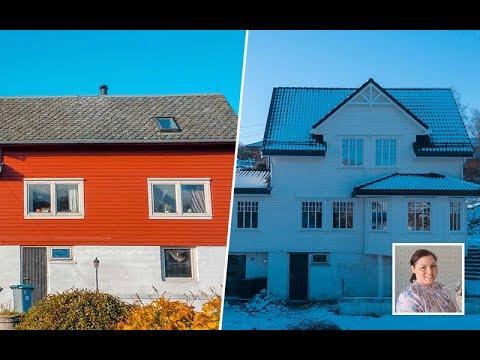 BOLIGREHABILITERING: Bli med inn i dette flotte ombygde huset til Kristina på Trengereid