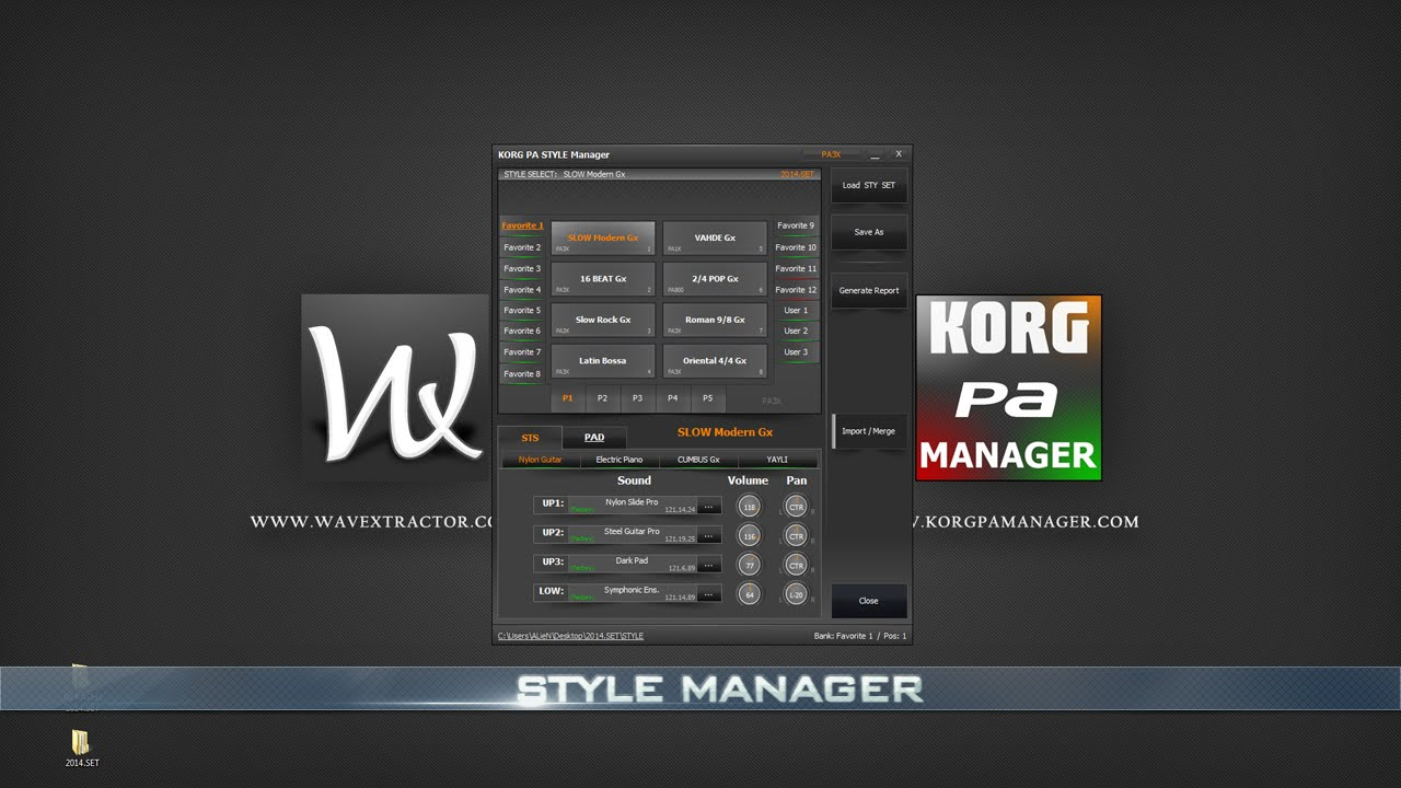 KORG PA Manager - STYLE Manager - [Part 3]