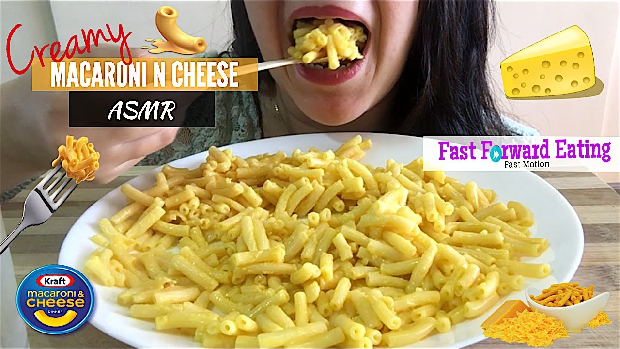 Asmr Creamy Mac N Cheese Eating Show Mukbang Soft Eating Sounds Fast Forward Eating
