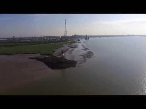 Thames Estuary By Air