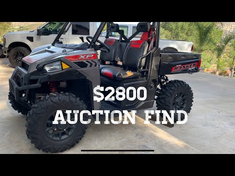 Buying a Polaris UTV @ Auction
