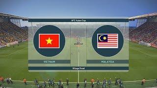 PES 19 | AFC ASIAN CUP | VÒNG BẢNG TRẬN 3 - Hattrick | VIETNAM vs MALAYSIA - Bóng Đá VIỆT NAM