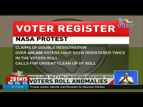 Nasa claims half a million Kenyans registered twice in register
