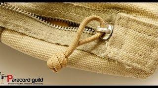 Fixing a broken zipper with paracord-  extended Matthew Walker knot