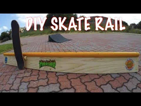 HOW TO MAKE A CHEAP DIY SKATE RAIL