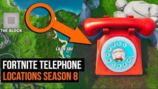 Where To Find Big Telephones in Fortnite - Season 8 Challenges