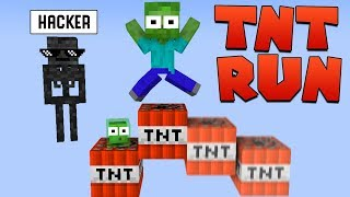 Monster School : TNT RUN CHALLENGE - Minecraft Animation