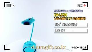 [다음기프트 판촉물] LED스탠드 겸용 무선 고속충전기