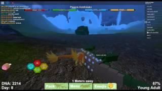 Dinosaur Simulator Phoenix Achillobator! + Playing with my friend