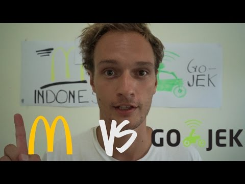 McDonald´s VS Go Jek  FOOD CHALLENGE INDONESIA