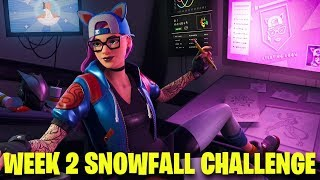 Fortnite semana 2 Secret banner localização | Desafio de queda de neve | Battle Royale do Fortnite