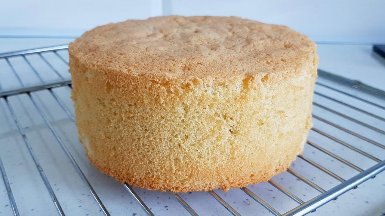 Самый простой Бисквит из 3-х ингредиентов. Высокий бисквит Без разделения яиц.
