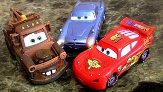 CARS 2 Lights and Sounds Mater, Finn Mcmissile, Lightning Mcqueen diecast Disney Pixar Blucollection
