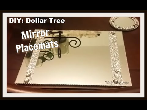 DIY| Mirror Placemats - Dollar Tree Items