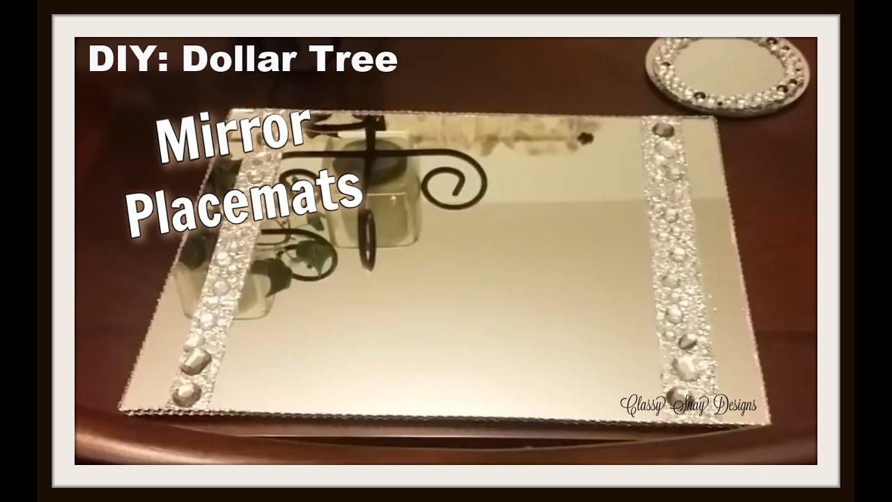 Diy Mirror Placemats Dollar Tree Items