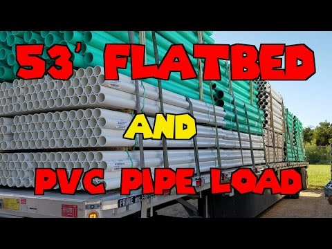 53' Flatbed And PVC Pipe Load