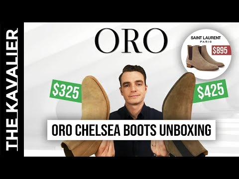 Oro Los Angeles Chelsea Boots Unboxing