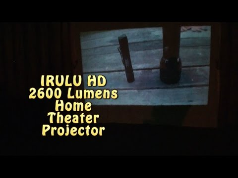 $165 IRULU HD2600 lumens Home Theater Projector set up & review