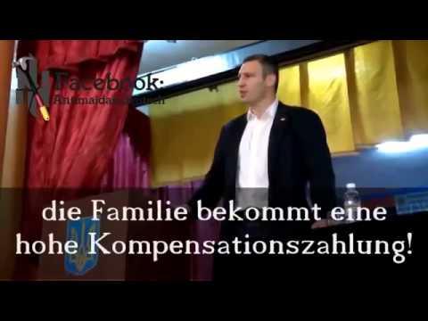 Dr. Klitschko: Für was Schusswesten? Familien brauchen doch keine Väter, der Staat sorgt für diese