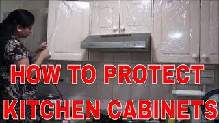 INDIAN NRI KITCHEN   How to clean and protect kitchen cabinets from DAMAGING  Stains   paint peeling