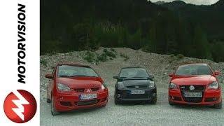 Ford Fiesta ST vs. Mitsubishi Colt CZT vs. Volkswagen Polo G