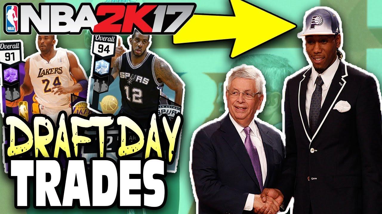 BIGGEST DRAFT DAY TRADES! NBA 2K17 SQUAD BUILDER - YouTube
