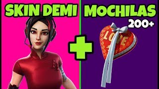 SKIN DEMI FORTNITE & 200 + BACKPACKS! BEST PASS SKIN 9? | SKIN COMBOS AND RUCKSACK FORTNITE