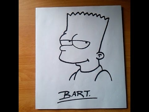 Como Dibujar A Bart Simpson Paso A Paso Y Fácil How To Draw Bart
