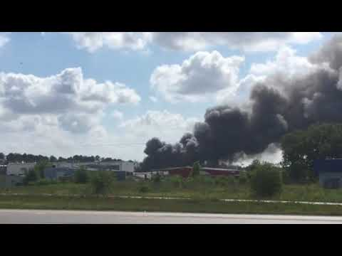 Video of Chemical Plant fire in Duson from Louisiana Bayou Distributor