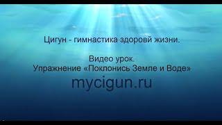 Упражнение гимнастики Цигун «Поклонись Земле и Воде»