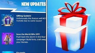 Fortnite's DELETED SKINS GIFT SYSTEM!? (Fortnite Gift System + Halloween Skins)