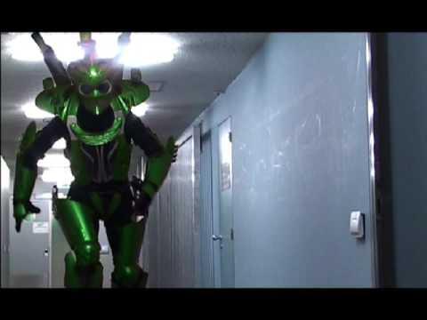 Alien Voyagers theatre on stilts 'Springstilts Robots costume name cyclotron'
