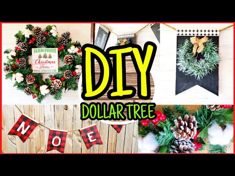 DIY Dollar Tree Christmas Decor | Easy Christmas Crafts