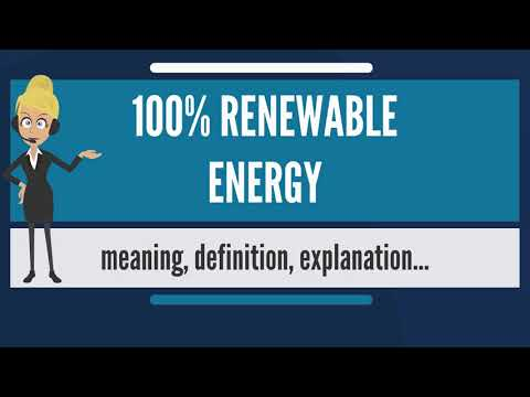 What is 100% RENEWABLE ENERGY? What does 100% RENEWABLE ENERGY mean?