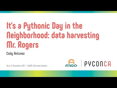 Image from It's a Pythonic Day in the Neighborhood - Data Harvesting Mr. Rogers