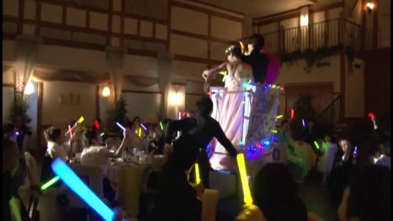 結婚式 入場 嵐のコンサート風
