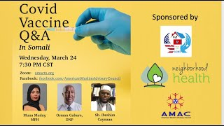 Covid Vaccine Q&A in Somali