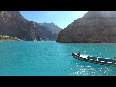 The Blue AttaAbad Lake Hunza Gilgit Baltistan | Drone Footag