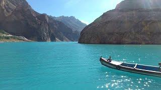 The Blue AttaAbad Lake Hunza Gilgit Baltistan   Drone Footage