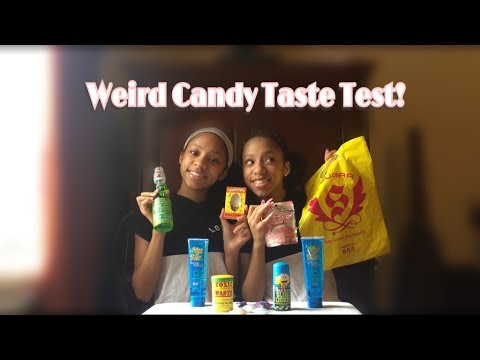 Weird candy taste test  W/ TheWickerTwinz
