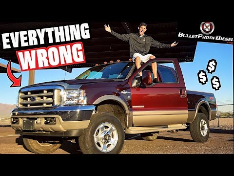 """Everything WRONG With My """"Cheap"""" 6.0L Ford Powerstroke Turbo Diesel!!"""