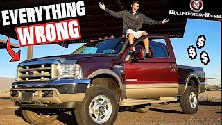 "Everything WRONG With My ""Cheap"" 6.0L Ford Powerstroke Turbo Diesel!!"