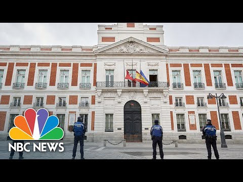 Madrid Holds Moment Of Silence To Pay Tribute To Coronavirus Victims | NBC News NOW