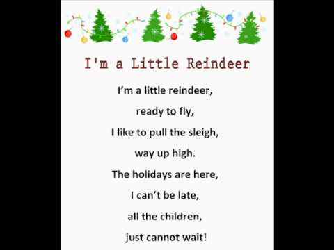 I'm a Little Reindeer ( Christmas Rhymes) - YouTube
