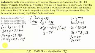 Układ równań - zadanie z treścią z egzaminu 2019 | MatFiz24.PL
