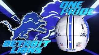 Detroit Lions Logo, Helmet, and Flag Colors Hype Video