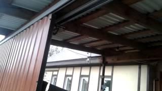 Откатные подвесные ворота.(На китайском приводе для подъёмных секционных ворот., 2015-09-14T17:53:45.000Z)