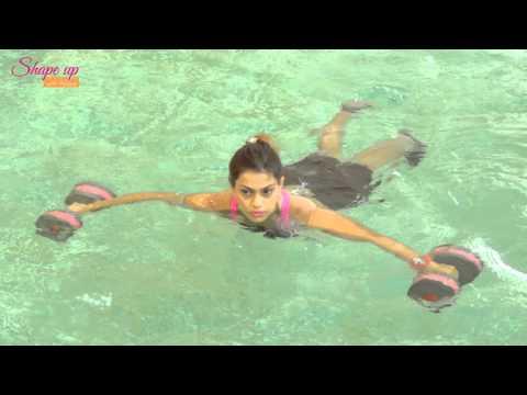 Aqua dumbbells workout tutorial - Learn aqua aerobics online